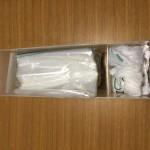 ゴミ袋は無印のポリプロピレンケースでコンパクトに収納しています。