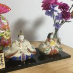 今年も陶器の雛人形を飾りました!